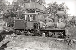 A Mapleton Tramways Shay in 1940