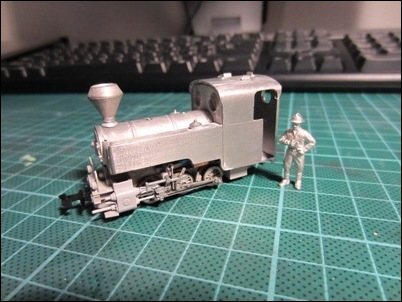 Test fitting the 'Joffre' body on the Roco BR 80 chassis