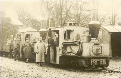 Pechot-Bourdon locomotives in a 'gris artillerie' livery