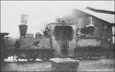 French Narrow Gauge Locomotive damaged by Shell Fire